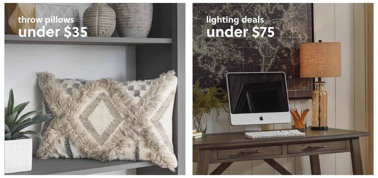 Throw Pillows Under $35, Lighting Deals Under $75,Wall Decor under $100 +Plus Free Shipping