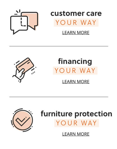 Customer Care, Financing, Furniture Protection