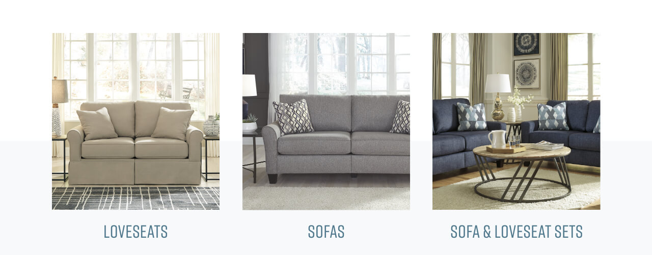Sofa Unpackt in a box, loveseats, sofas and loveseat sets