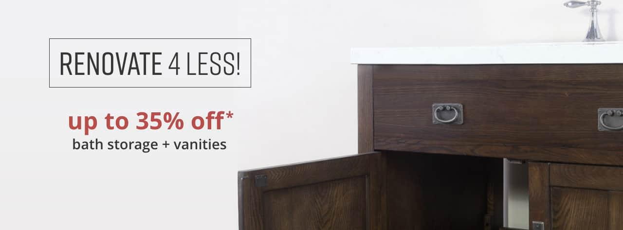 Bathroom Furniture Up To 35% Off* Bath Storage And Vanities