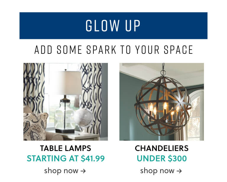 Table Lamps, Chandeliers