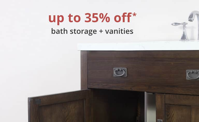 Bathroom Furniture up to 35% off* bath storage and vanities