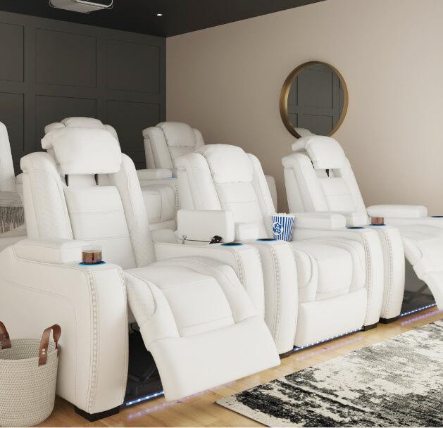 Dual Power Reclining Furniture