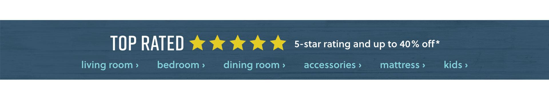 Top Rated Living Room Bedroom, Dining Room, Accessories, Mattress, Kids