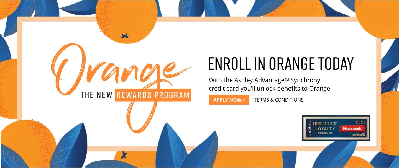 Ashley HomeStrore Orange Rewards Loyalty Program