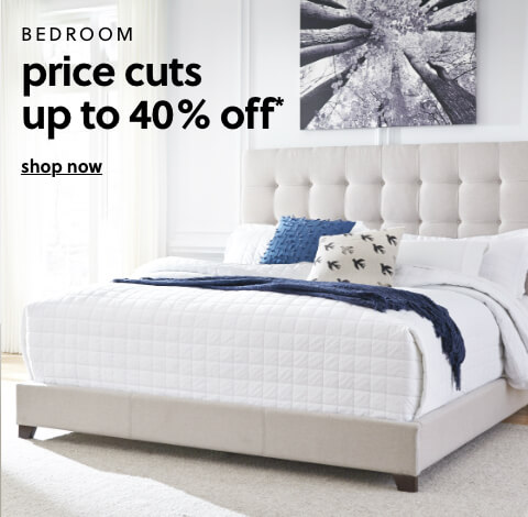 Bedroom Price Cuts Up to 40% Off