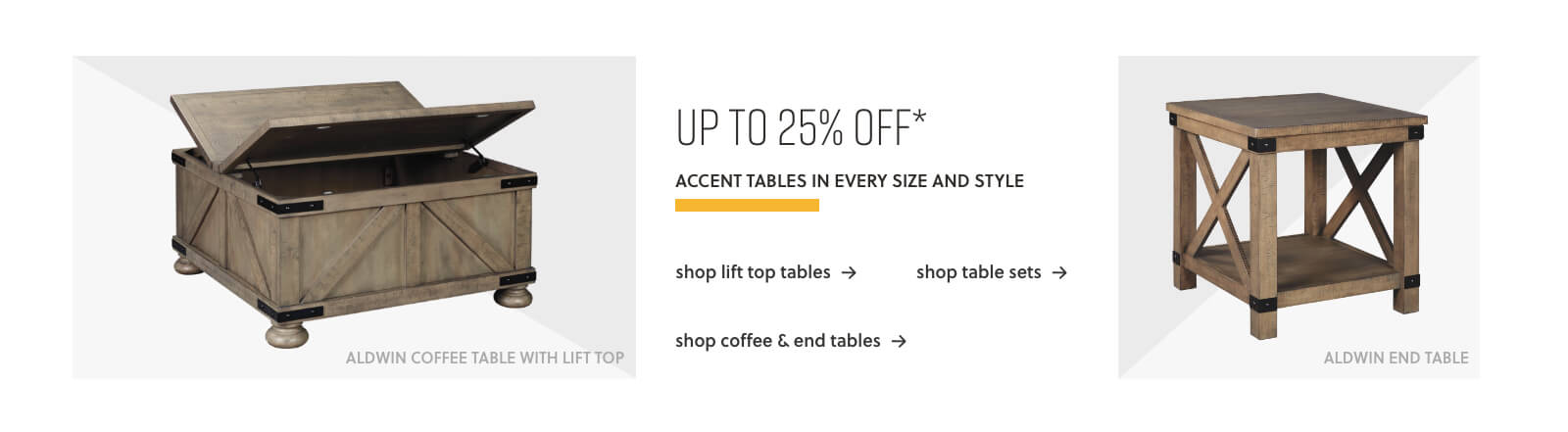 Table Sets, Lift-Top Tables, Coffee and End Tables