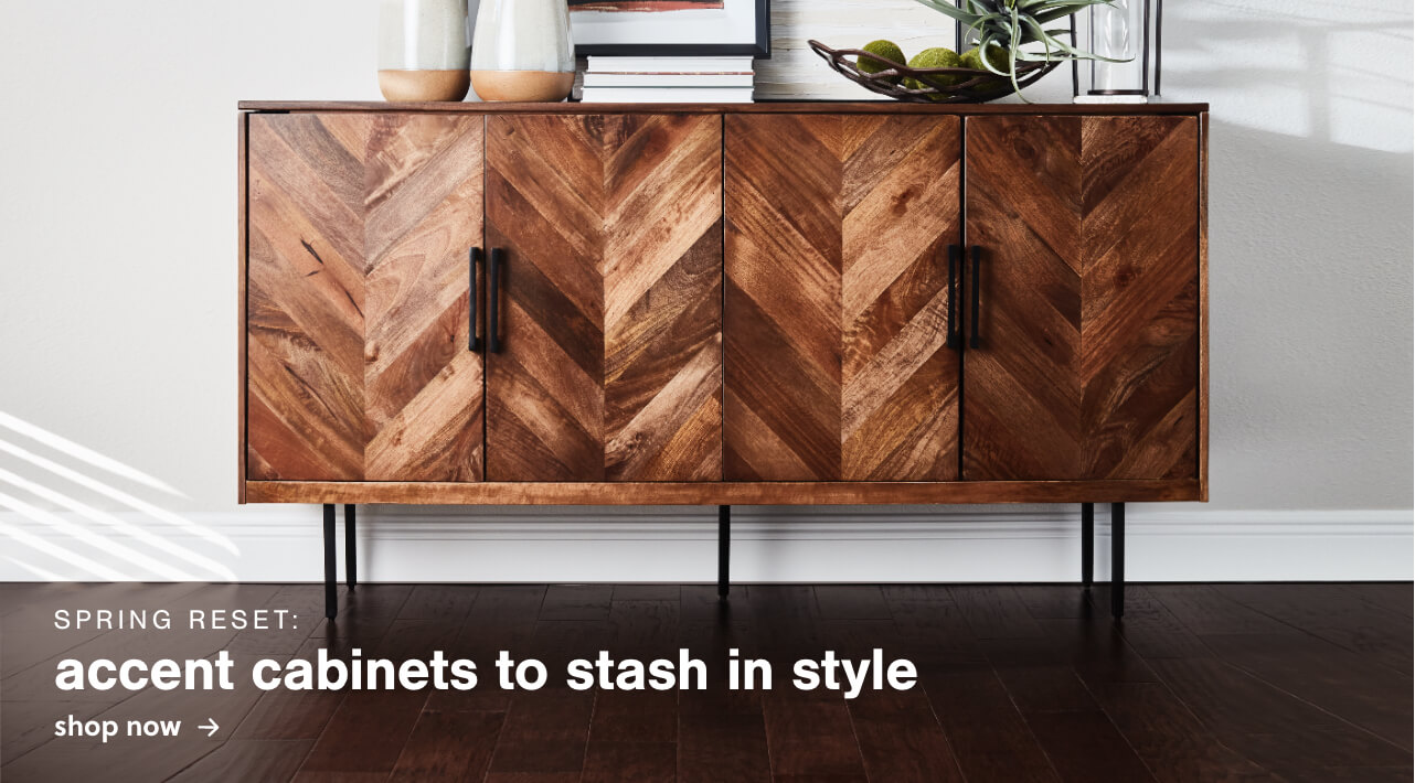 Spring Reset: Accent Cabinets to stash in style
