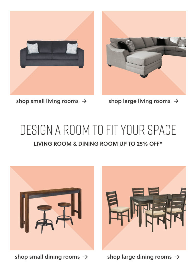 Small Space Living Room, Large Space Living Room, Small Space Dining Rooms, Large Space Dining Rooms
