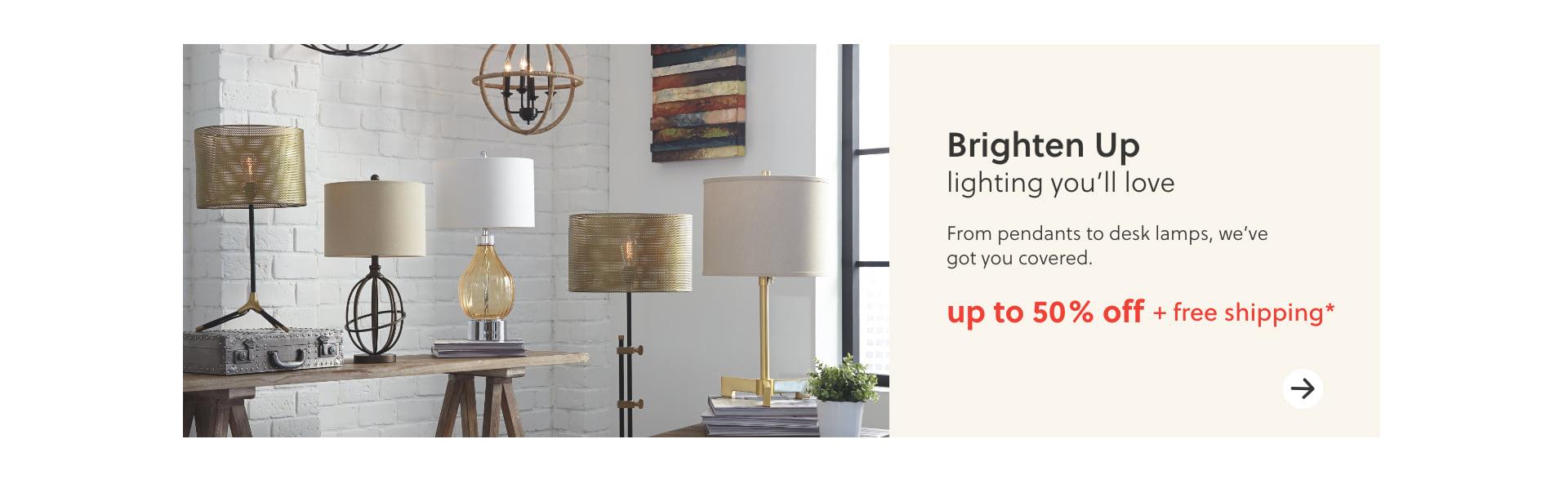 Desk Lamps, Pendants, Lighting