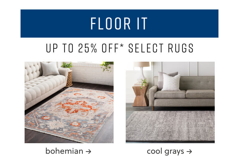Bohemian Rugs, Cool Grays