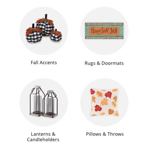 Fall Decor, Fall Doormats and rugs, Fall Lanterns, Fall Pillows