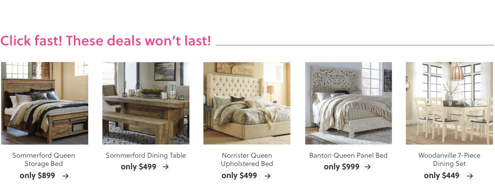 Deals on Beds and Dining Tables