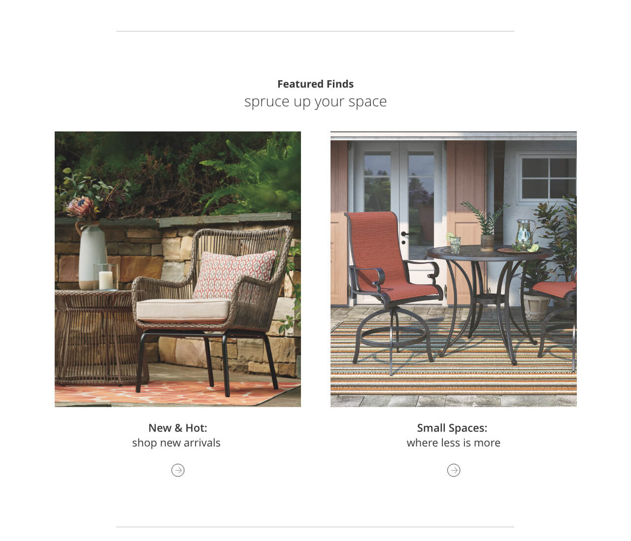 New Outdoor Furniture, Small Space Outdoor Furniture