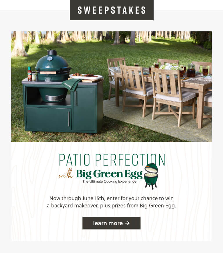Patio Perfection with Big Green Egg
