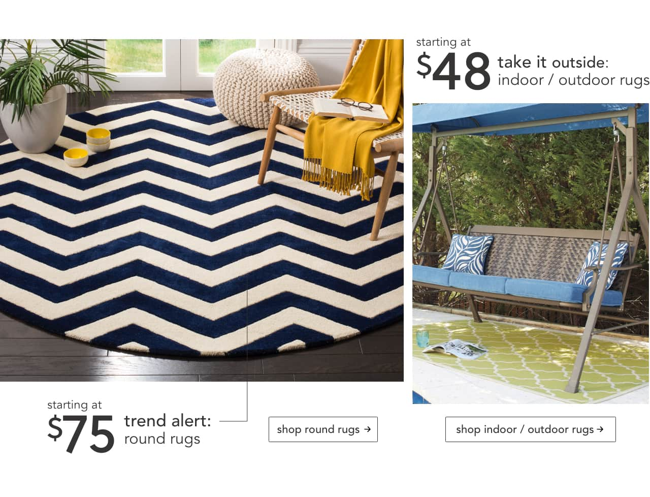Round Rugs, Indoor and Outdoor Rugs