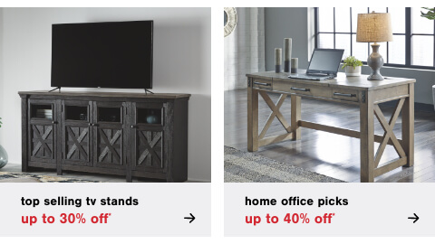 2021 Home Office Picks: Up to 40% Off*  , HTop Selling TV Stands Up to 30% Off