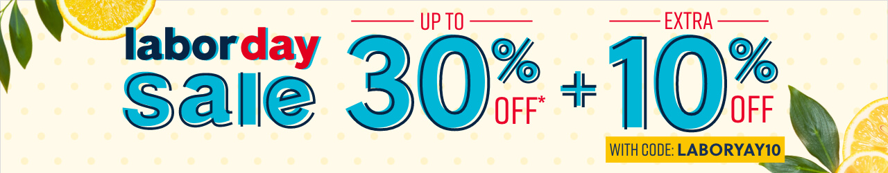 Labor Day Sale up to 30% off