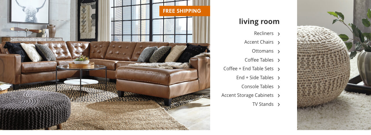 Free Shipping with Living Room Bedroom, Kitchen and Dining Furniture