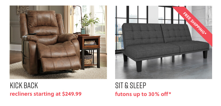 Recliners, Futons
