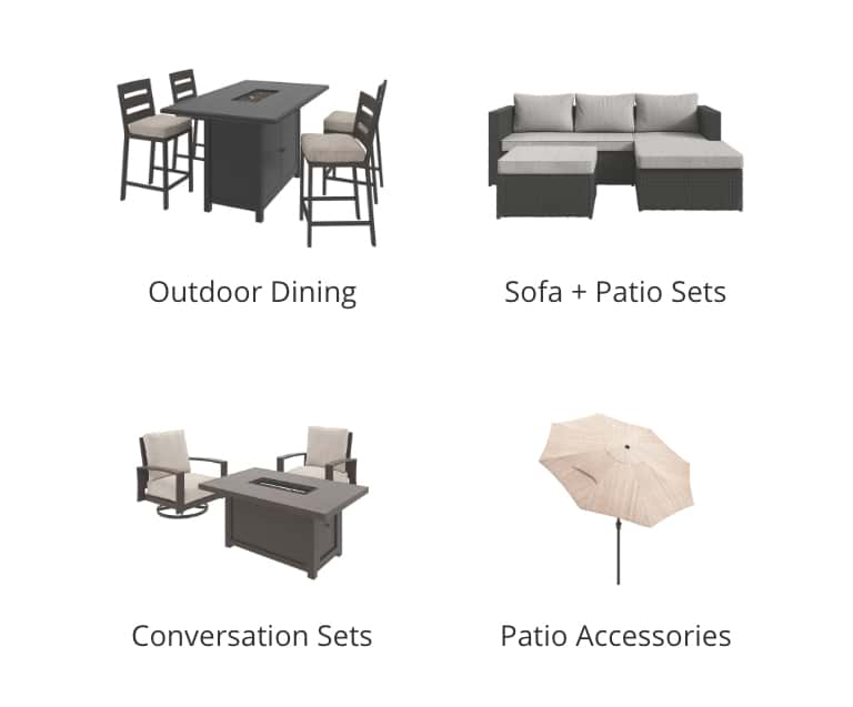Outdoor Dining, Outdoor Sofa and Patio Sets, Outdoor Conversation Sets, Outdoor Patio Accessories