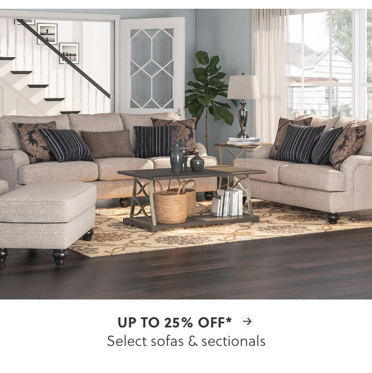 Sofas and Sectionals up to 25% off*