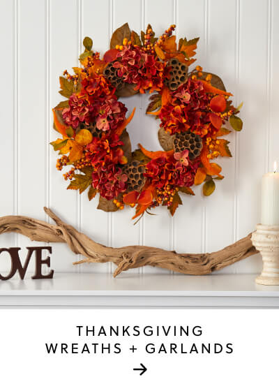 Thanksgiving Wreaths + Garlands