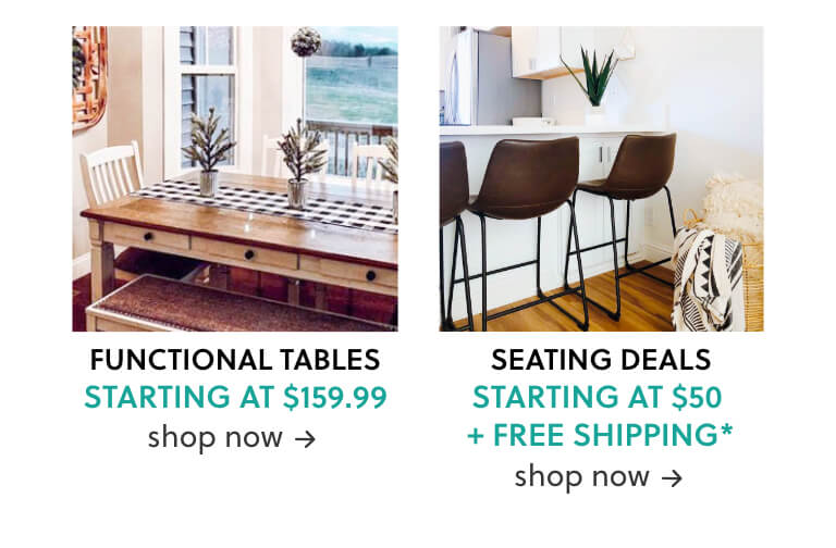 Functional Tables, Seating Deals Bar Stools