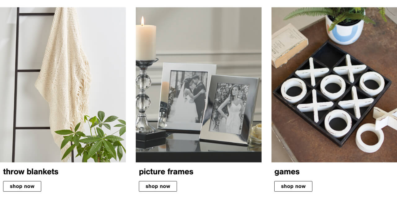 Throw Blankets, Picture Frames, Games