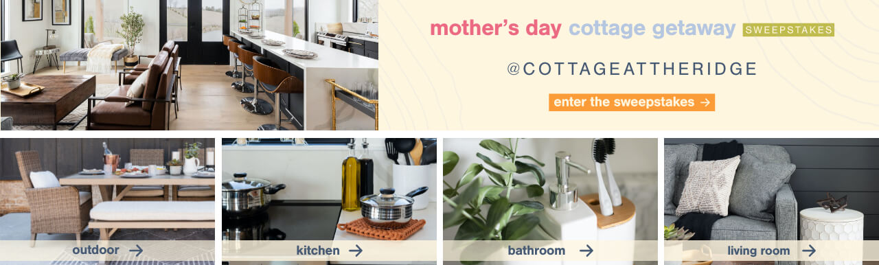 Mother's Day Cottage Getaway Sweepstakes