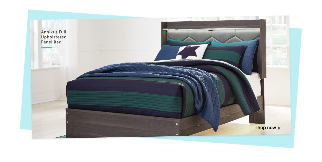 Annikus Queen Upholstered Panel Bed