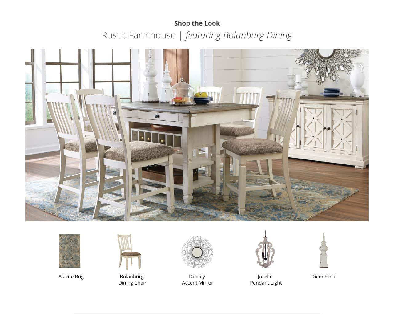 Rustic Farmhouse Bolanburg Dining