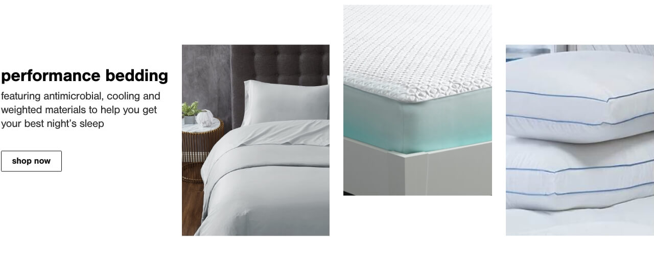 Sleep Technology featuring Antimicrobial, Cooling and Weighted materials