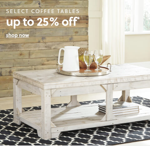 Select Coffee tables up to 25% Off