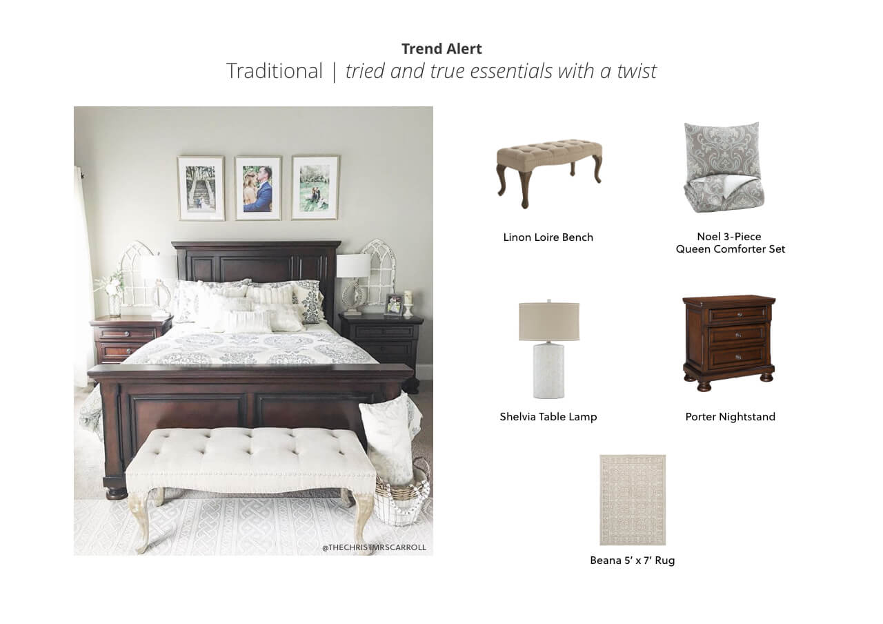 Traditional Bedroom Look