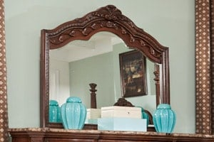 Ledelle Bedroom Mirror with gesso top
