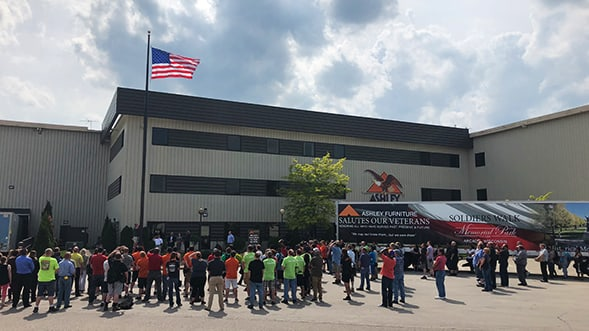 Ashley Furniture Industries Holds Flag Raising Ceremonies Nationwide in Honor of Memorial Day