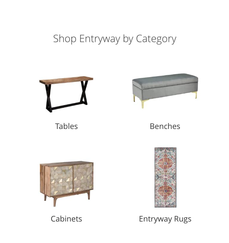 Entryway Tables, Benches, Cabinets, Entryway Rugs