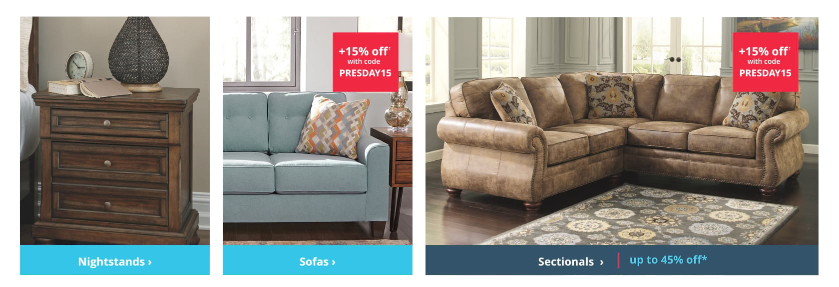 Shop Nightstands, Sofas, Sectionals