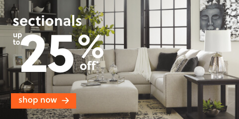 Sectionals Up to 25% Off* + Free Delivery