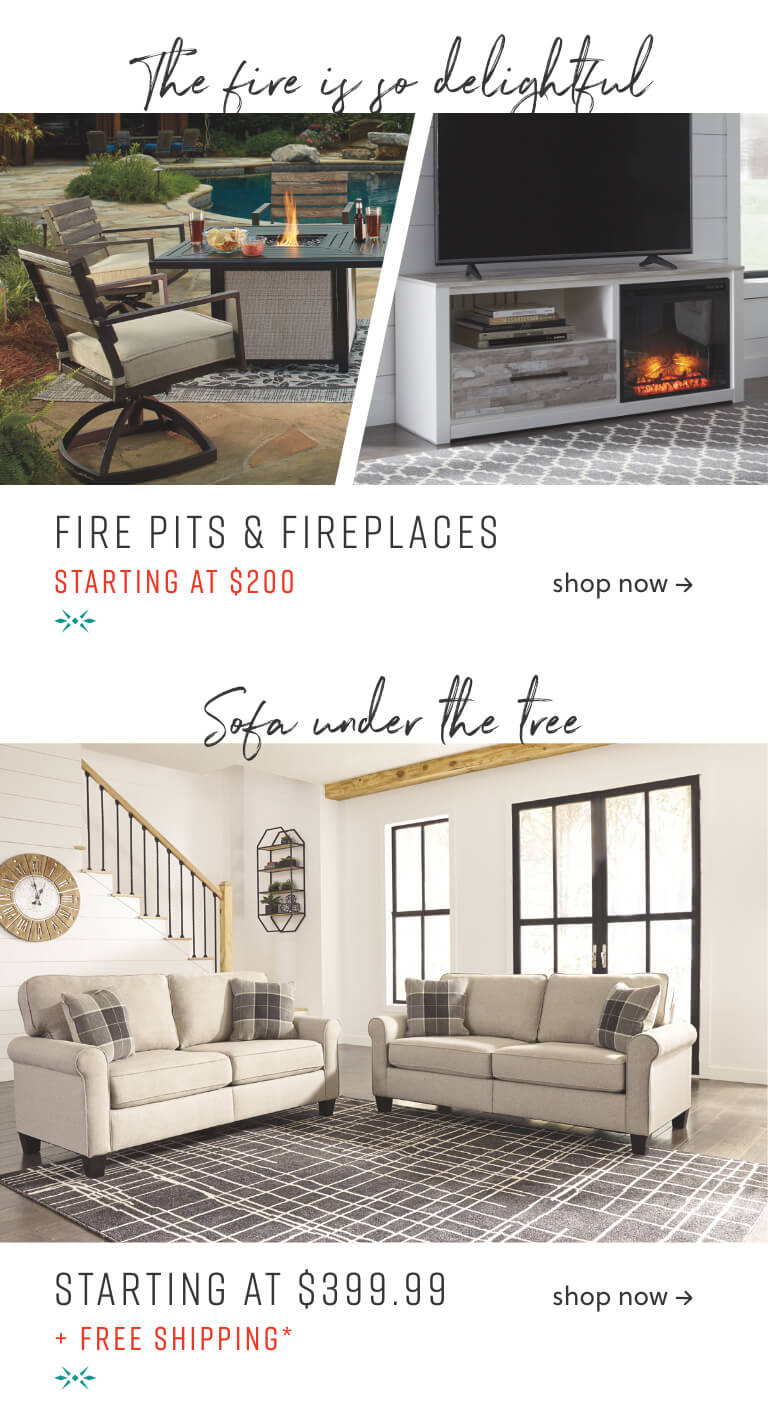Fire Pits, Fireplaces, Sofas