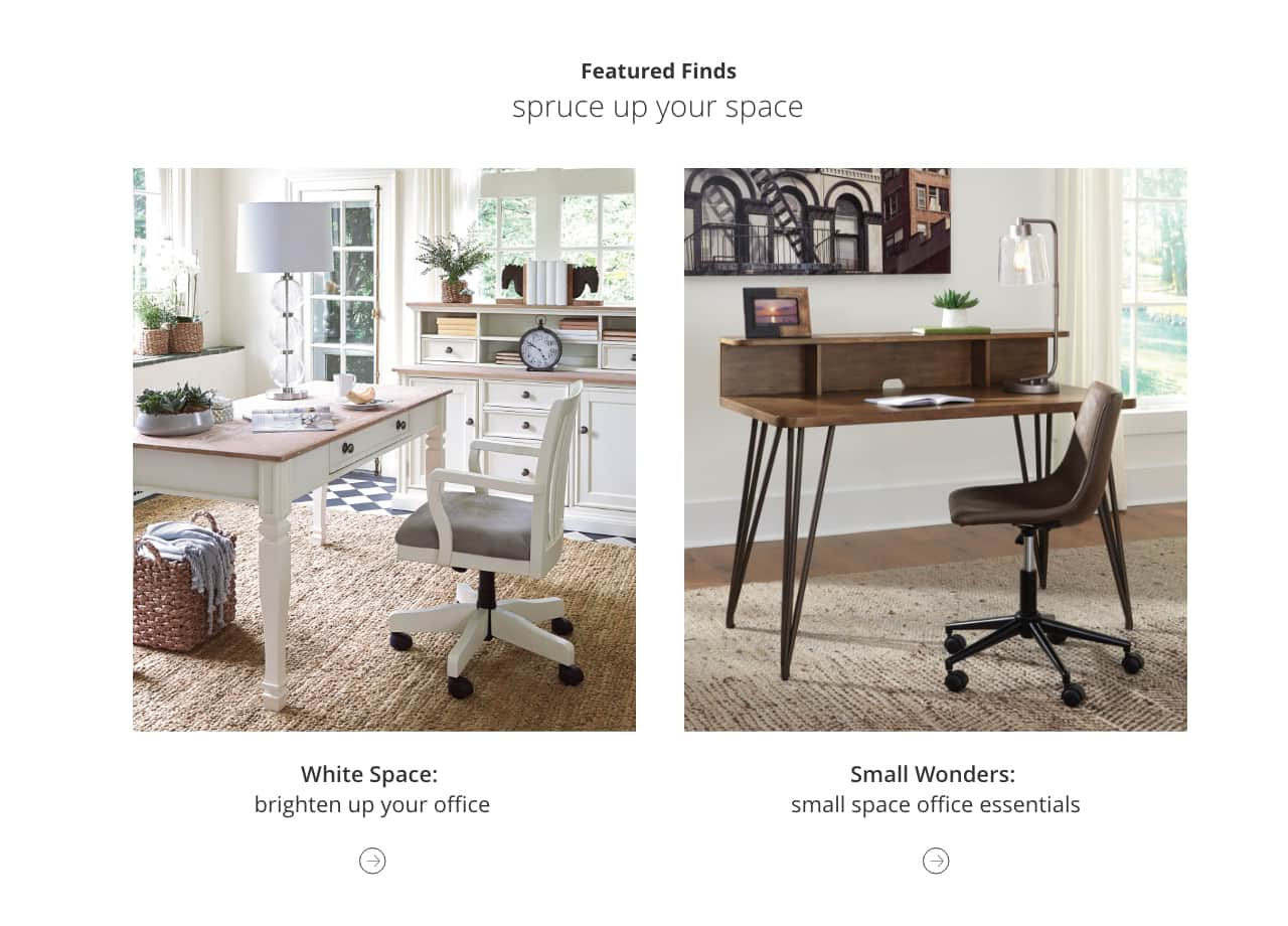 White Home Office Furniture, Small Space Office Essentials