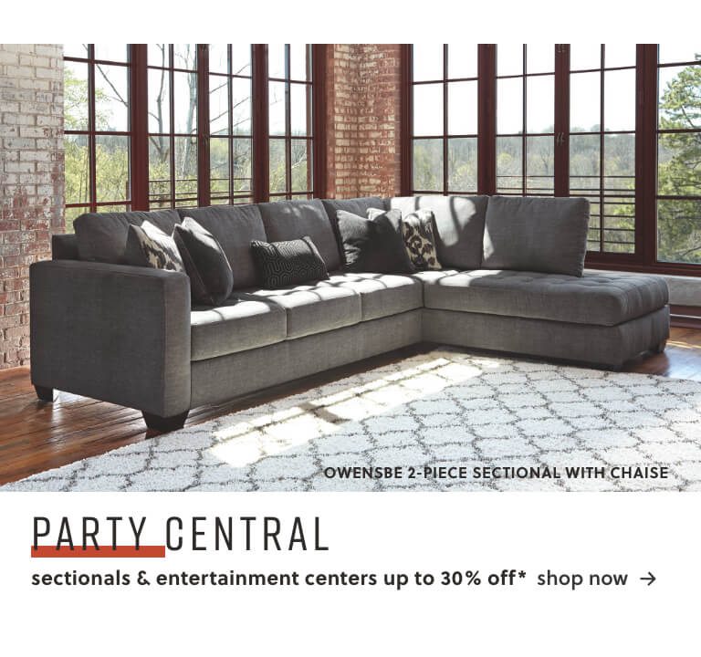 Sectionals and Entertainment Centers