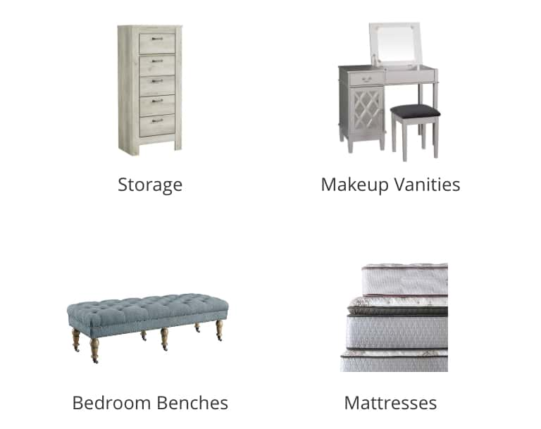 Makeup Vanities, Bedroom Benches, Mattresses Bedding