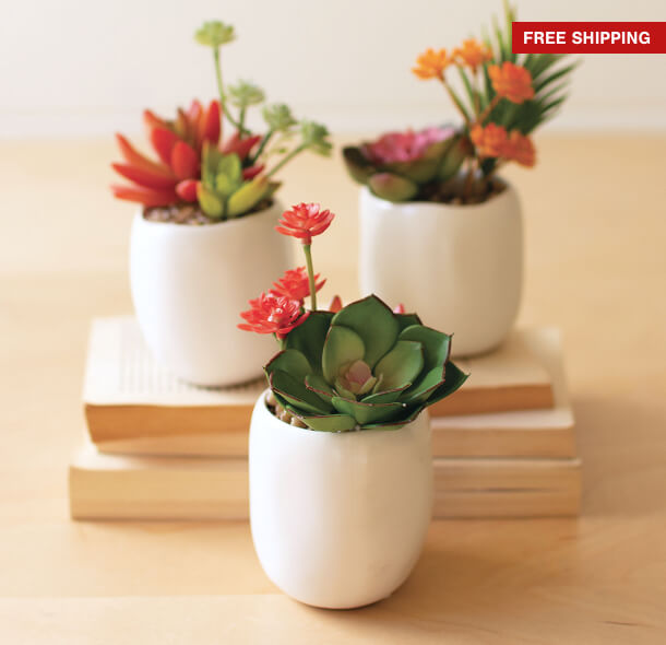 faux flowers + plants up to 55% off*