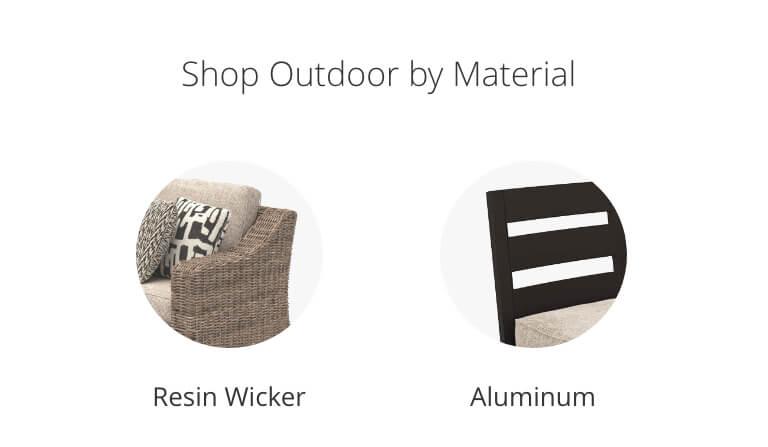 Resin Wicker, Aluminum