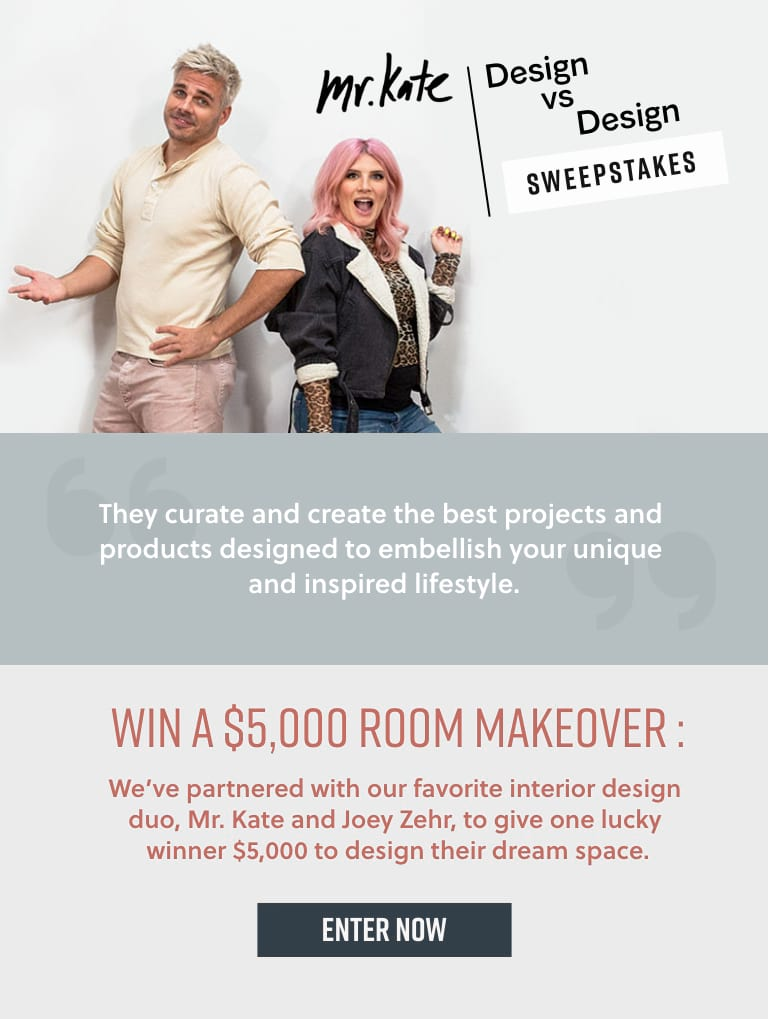 Mr. Kate Design vs Design Sweepstakes