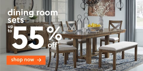 Dining Room Sets Up to 55% Off*  + Free Delivery (SS Version Only)