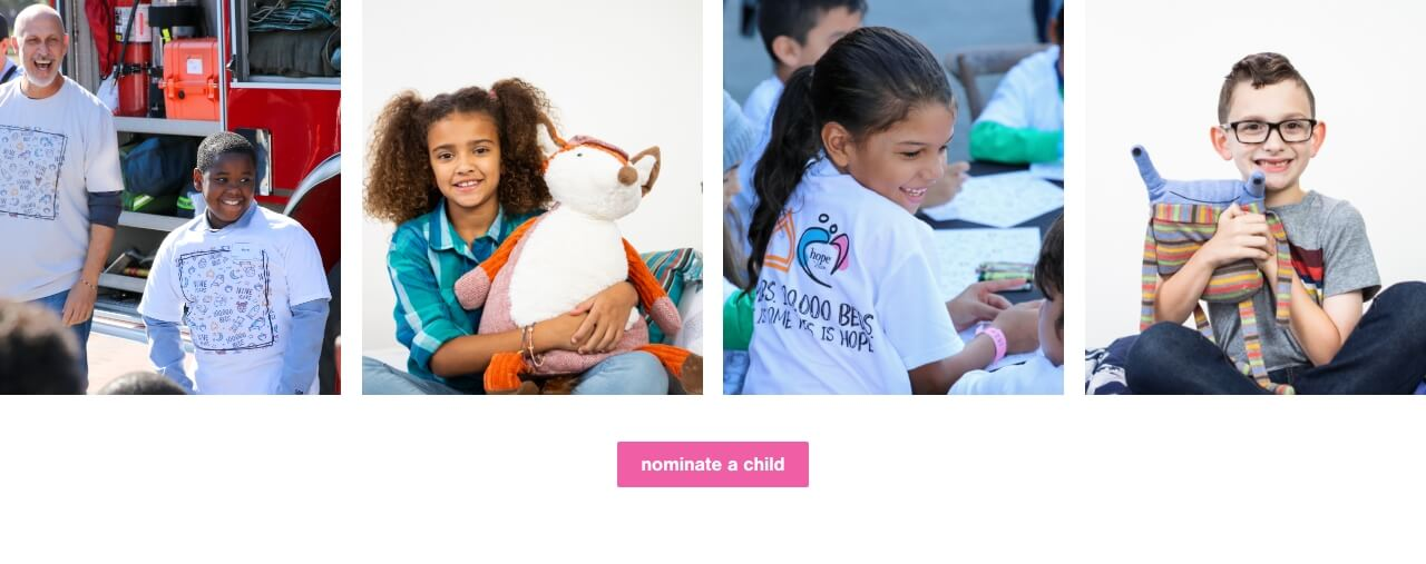 Hope To Dream Nominate a Child
