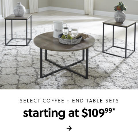 Select Coffee and End Table Sets Starting at $109.99